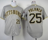 Pittsburgh Pirates #25 Gregory Polanco Grey Cool Base Stitched MLB Jersey