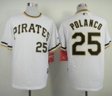 Pittsburgh Pirates #25 Gregory Polanco White Alternate 2 Cool Base Stitched MLB Jersey