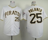 Pittsburgh Pirates #25 Gregory Polanco White Cool Base Stitched MLB Jersey