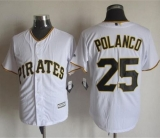 Pittsburgh Pirates #25 Gregory Polanco White New Cool Base Stitched MLB Jersey