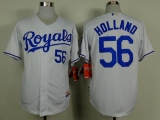 Kansas City Royals #56 Greg Holland White Cool Base Stitched MLB Jersey