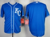 Kansas City Royals Blank Blue Alternate 2 Cool Base Stitched MLB Jersey