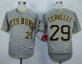 Pittsburgh Pirates #29 Francisco Cervelli Grey Cool Base Stitched MLB Jersey