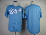 Kansas City Royals Blank Light Blue Cool Base Stitched MLB Jersey