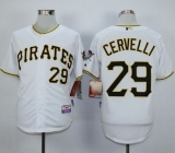 Pittsburgh Pirates #29 Francisco Cervelli White Cool Base Stitched MLB Jersey