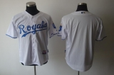 Kansas City Royals Blank White Cool Base Stitched MLB Jersey