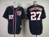 Washington Nationals #27 Jordan Zimmermann Navy Blue Cool Base Stitched MLB Jersey
