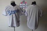 Kansas City Royals Blank White Cool Base W 2015 World Series Patch Stitched MLB Jersey