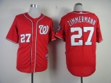 Washington Nationals #27 Jordan Zimmermann Red Cool Base Stitched MLB Jersey