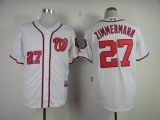 Washington Nationals #27 Jordan Zimmermann White Cool Base Stitched MLB Jersey