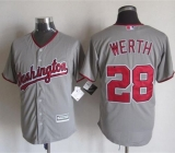 Washington Nationals #28 Jayson Werth Grey New Cool Base Stitched MLB Jersey