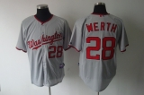 Washington Nationals #28 Jayson Werth Grey Stitched MLB Jersey
