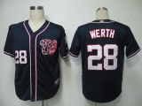 Washington Nationals #28 Jayson Werth Navy Blue Cool Base Stitched MLB Jersey