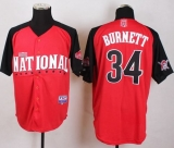 Pittsburgh Pirates #34 A J Burnett Red 2015 All-Star National League Stitched MLB Jersey