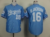 Mitchell and Ness Kansas City Royals #16 Bo Jackson Light Blue Throwback Stitched MLB Jersey