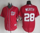 Washington Nationals #28 Jayson Werth Red New Cool Base Stitched MLB Jersey