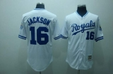 Mitchell and Ness Kansas City Royals #16 Bo Jackson Stitched White Throwback MLB Jersey