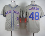 New York Mets #48 Jacob DeGrom Grey Road Cool Base Stitched MLB Jersey