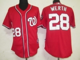 Washington Nationals #28 Jayson Werth Red Stitched MLB Jersey