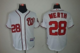 Washington Nationals #28 Jayson Werth White Stitched MLB Jersey