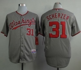 Washington Nationals #31 Max Scherzer Grey Cool Base Stitched MLB Jersey