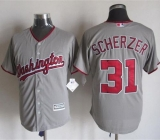 Washington Nationals #31 Max Scherzer Grey New Cool Base Stitched MLB Jersey