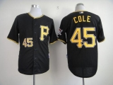 Pittsburgh Pirates #45 Gerrit Cole Black Cool Base Stitched MLB Jersey