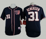 Washington Nationals #31 Max Scherzer Navy Blue Cool Base Stitched MLB Jersey