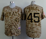 Pittsburgh Pirates #45 Gerrit Cole Camo Alternate Cool Base Stitched MLB Jersey