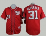 Washington Nationals #31 Max Scherzer Red Cool Base Stitched MLB Jersey