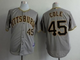 Pittsburgh Pirates #45 Gerrit Cole Grey Cool Base Stitched MLB Jersey