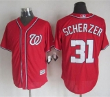 Washington Nationals #31 Max Scherzer Red New Cool Base Stitched MLB Jersey