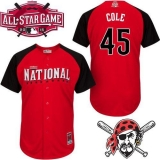 Pittsburgh Pirates #45 Gerrit Cole Red 2015 All-Star National League Stitched MLB Jersey