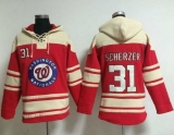 Washington Nationals #31 Max Scherzer Red Sawyer Hooded Sweatshirt MLB Hoodie