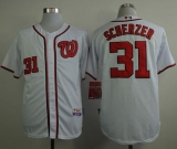 Washington Nationals #31 Max Scherzer White Cool Base Stitched MLB Jersey