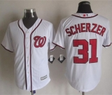 Washington Nationals #31 Max Scherzer White New Cool Base Stitched MLB Jersey