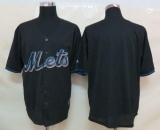 New York Mets Blank Black Fashion Stitched MLB Jersey