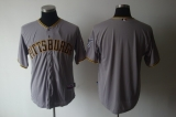 Pittsburgh Pirates Blank Grey Cool Base Stitched MLB Jersey