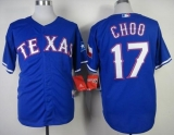 Texas Rangers #17 Shin-Soo Choo Blue Cool Base Stitched MLB Jersey