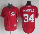 Washington Nationals #34 Bryce Harper Red New Cool Base Stitched MLB Jersey