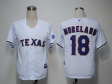 Texas Rangers #18 Mitch Moreland White Cool Base Stitched MLB Jersey