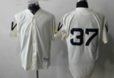 Washington Nationals #37 Stephen Strasburg Cream 1924 Turn Back The Clock Stitched MLB Jersey