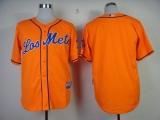 New York Mets Blank Orange Los New York Mets Cool Base Stitched MLB Jersey