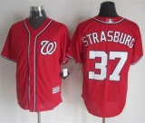 Washington Nationals #37 Stephen Strasburg Red New Cool Base Stitched MLB Jersey