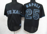 Texas Rangers #25 Mike Napoli Black Fashion Stitched MLB Jersey