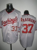 Washington Nationals #37 Stephen Strasburg Stitched Grey MLB Jersey