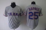 Texas Rangers #25 Mike Napoli Grey Cool Base Stitched MLB Jersey