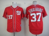 Washington Nationals #37 Stephen Strasburg Stitched Red MLB Jersey