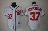 Washington Nationals #37 Stephen Strasburg Stitched White MLB Jersey