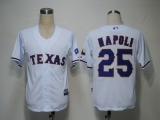 Texas Rangers #25 Mike Napoli White Cool Base Stitched MLB Jersey